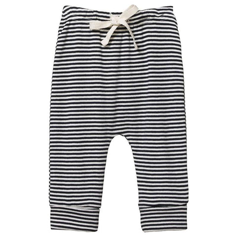 Nature Baby Organic Cotton  Drawstring Pants - Navy Stripe
