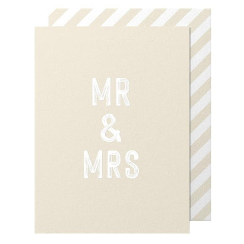 Made Paper Co Card - Mr & Mrs Cards & Wrap Made Paper Co