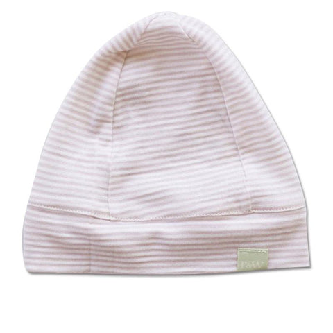 Roots & Wings NZ Organic Merino Beanie - Rose Stripe - Tea Pea