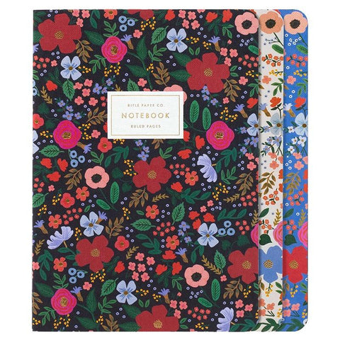 Rifle Paper US Stitched Notebook Set - Wild Rose - Tea Pea Home
