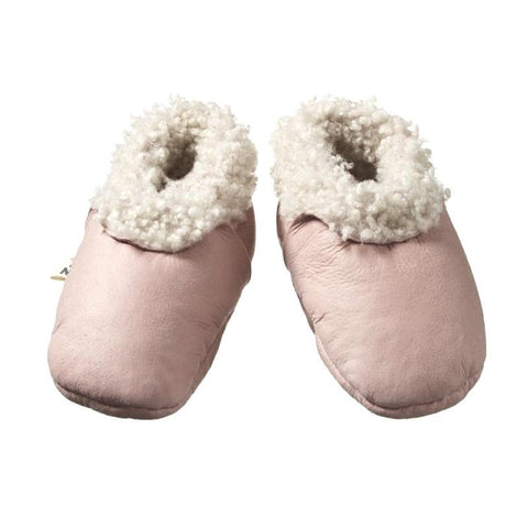 Nature Baby Lambskin Booties - Rose Bud