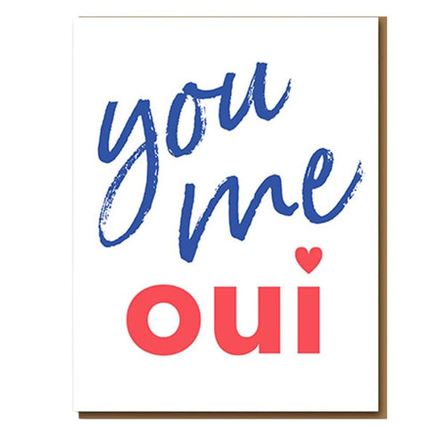 Love Letterpress Greeting Card - You Me Oui - Tea Pea Home