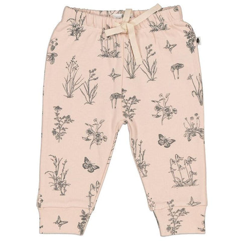 Burrow & Be Essentials Fleece Pants - Meadow Blush Baby Burrow & Be
