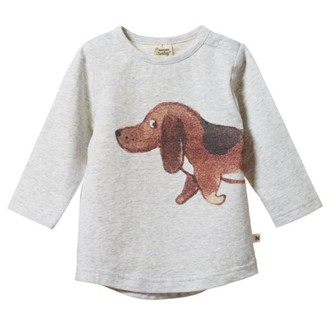 Nature Baby Stretch Jersey Everyday Tee - Top Dog - Tea Pea Home