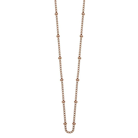 Kirstin Ash Bespoke Ball Chain - 18k Rose Gold Vermeil - Tea Pea