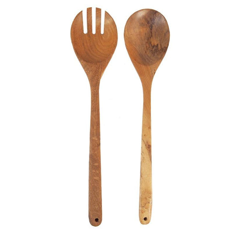 Tea Pea Home Teak Server Set - Round - Tea Pea Home