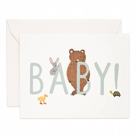Rifle Paper US Card - BABY! Mint - Tea Pea Home