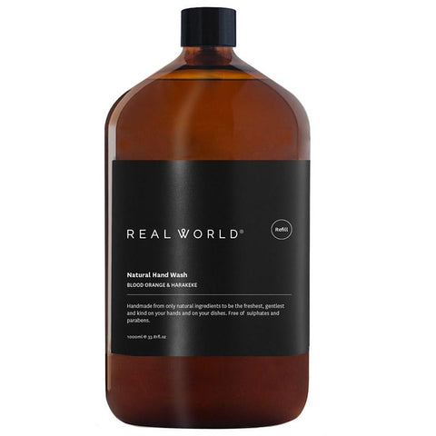 Real World NZ Hand Wash 1L Refill - Blood Orange & Harakeke - Tea Pea Home