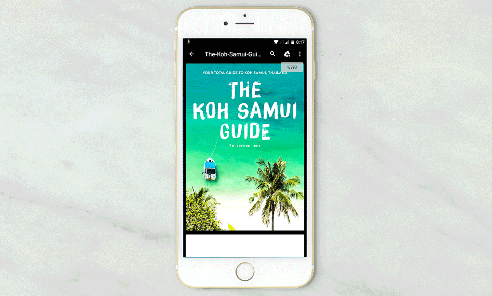 How to download The Koh Samui Guide to your mobile, iPad or tablet: Step seven – find your guide in your downloads folder