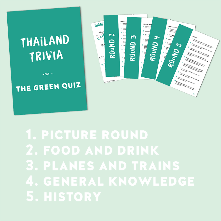 Thailand Trivia – The Green Quiz