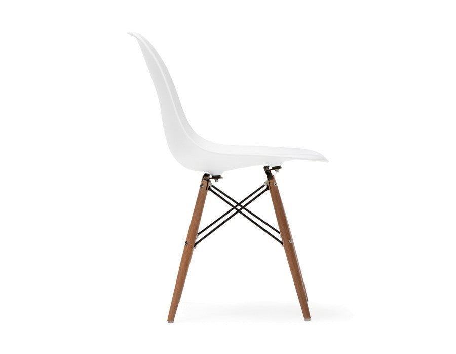 Tremendous Eames Style Plastic Dining Chair With Wooden Legs Andrewgaddart Wooden Chair Designs For Living Room Andrewgaddartcom
