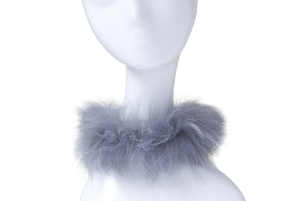RACCOON FUR COLLAR - gray
