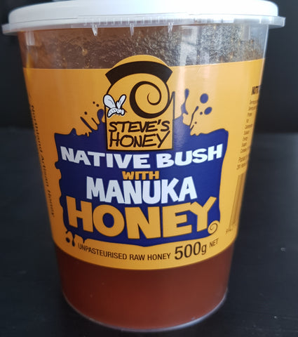 NATIVE BUSH HONEY WITH MANUKA / 500G