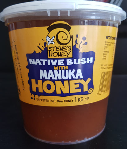 NATIVE BUSH HONEY WITH MANUKA /1KG