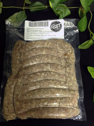 Bostock Organic Chicken & Bacon Sausage