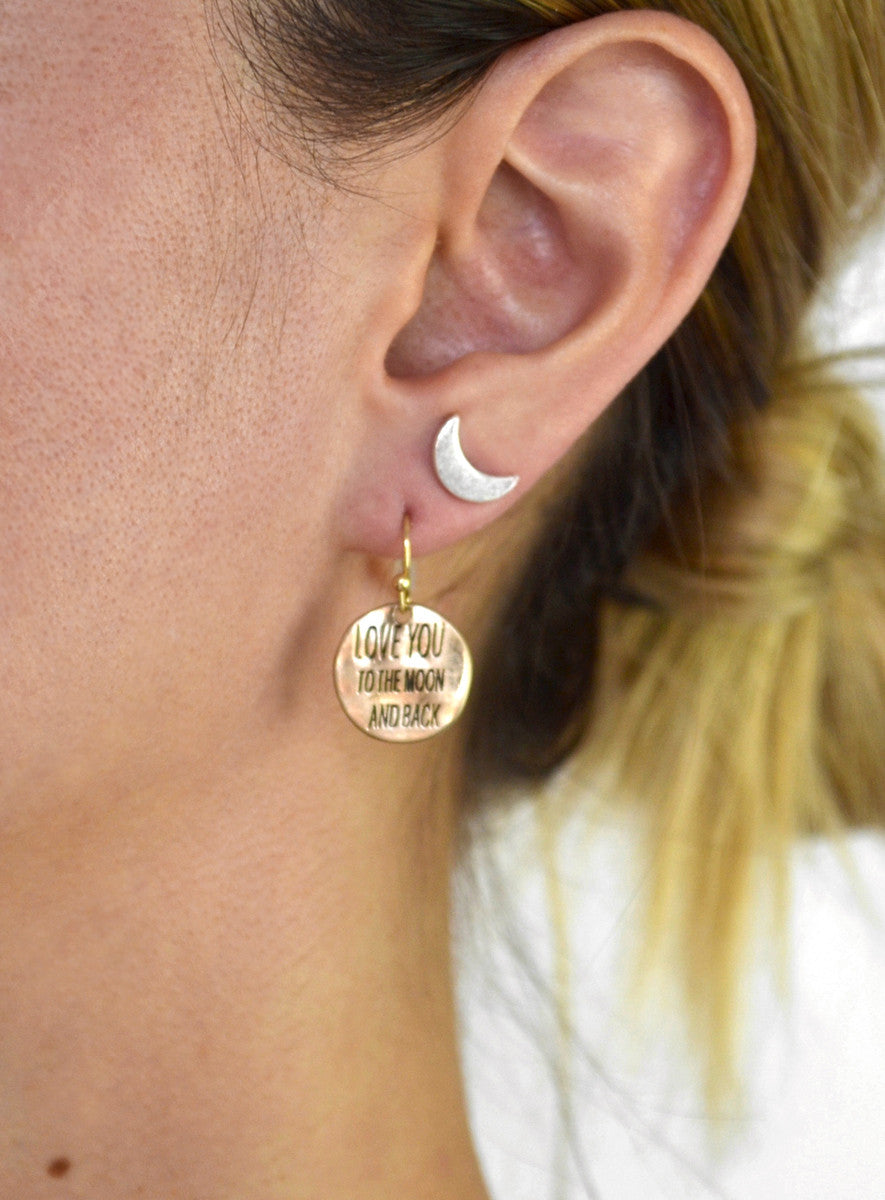 Love You To The Moon And Back Earring Set