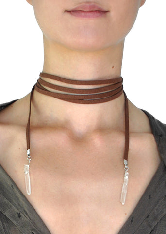 Aurora Sunburst Metal Choker Necklace