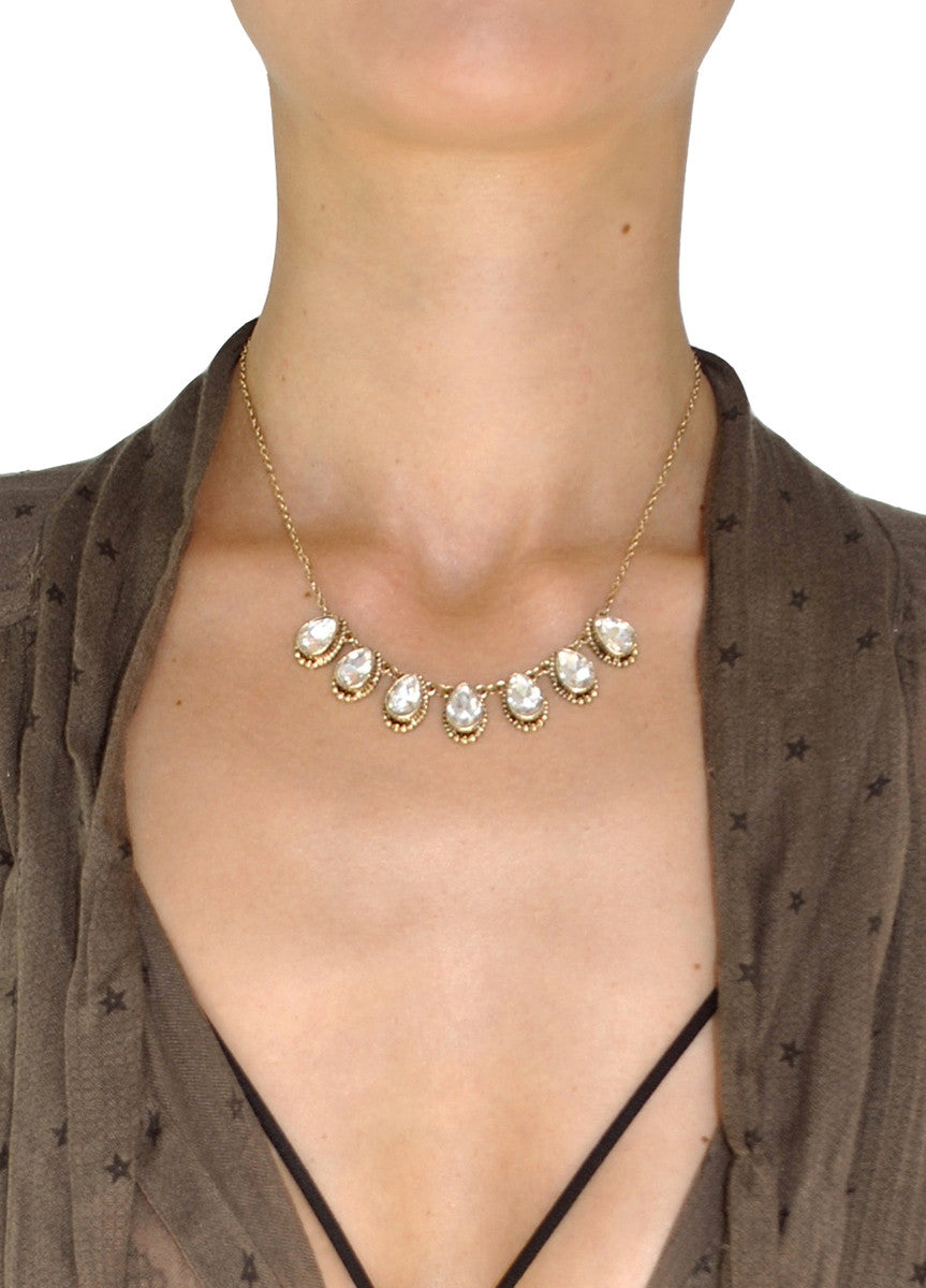 Hayden Jeweled Teardrop Necklace