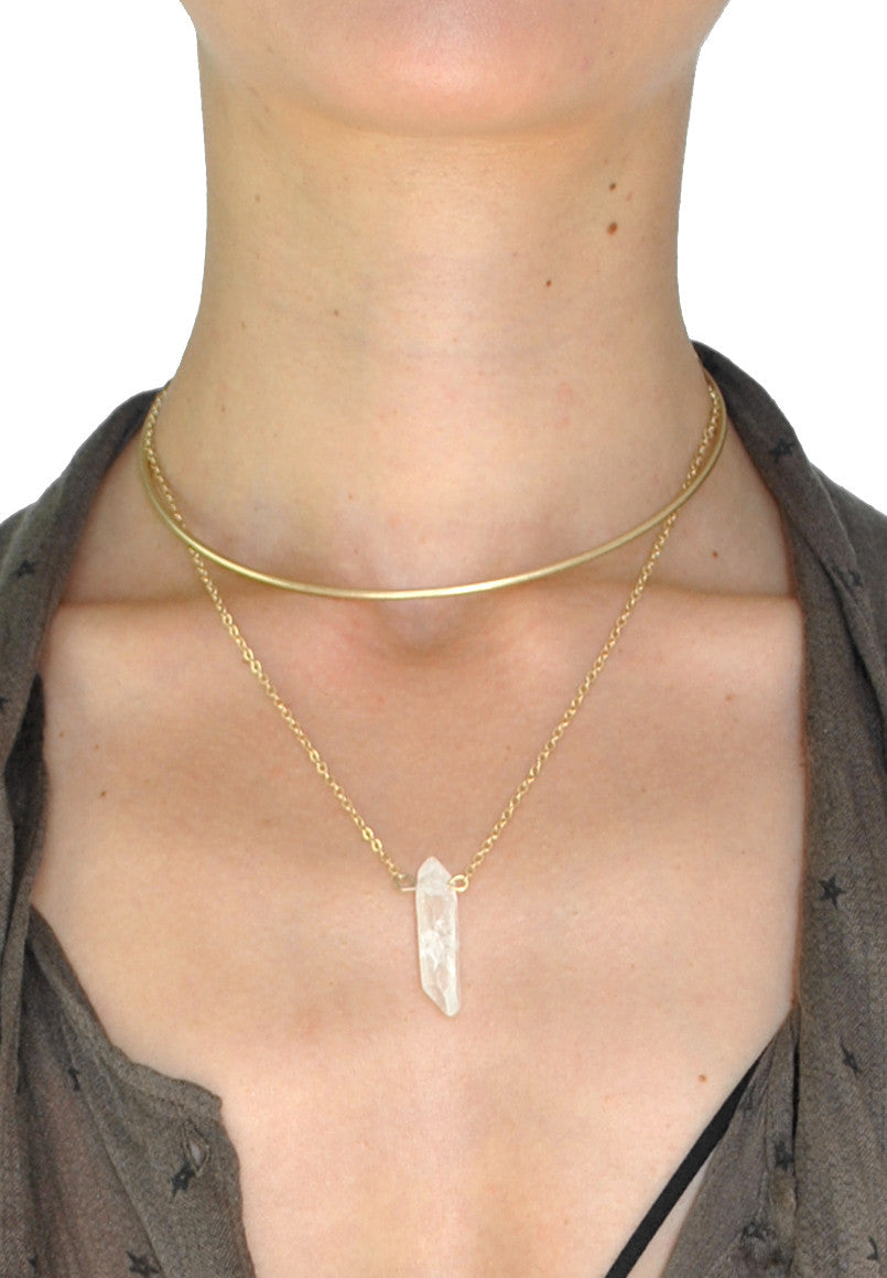 Jolene Natural Stone Layered Choker