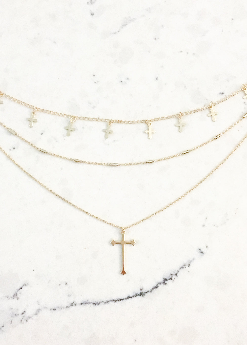 Prayed For This Layered Cross Necklace