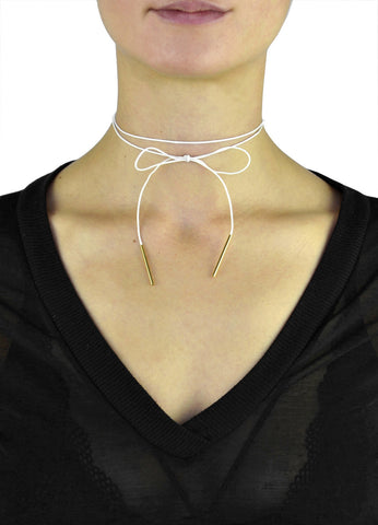 Thin Black Suede Choker Necklace