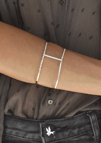 Eyes Open Crystal Double Strand Bracelet