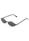 NEO Frame Thin Sunglasses Black
