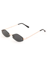 NEO Frame Thin Sunglasses Gold