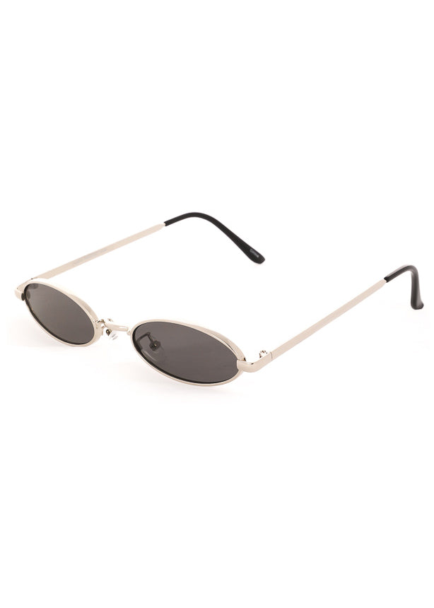 Tiny Oval Sunglasses Silver