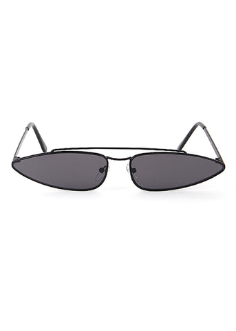 The One Mirrored Cateye Aviator Sunglasses