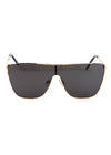 Pamela Shield Sunglasses Gold Black