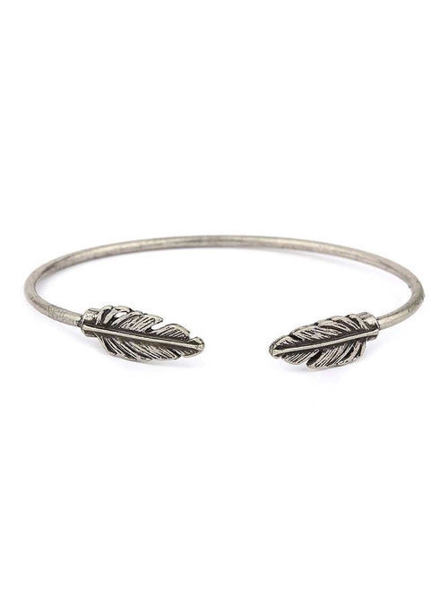 Feather Leaf Cuff Bracelet