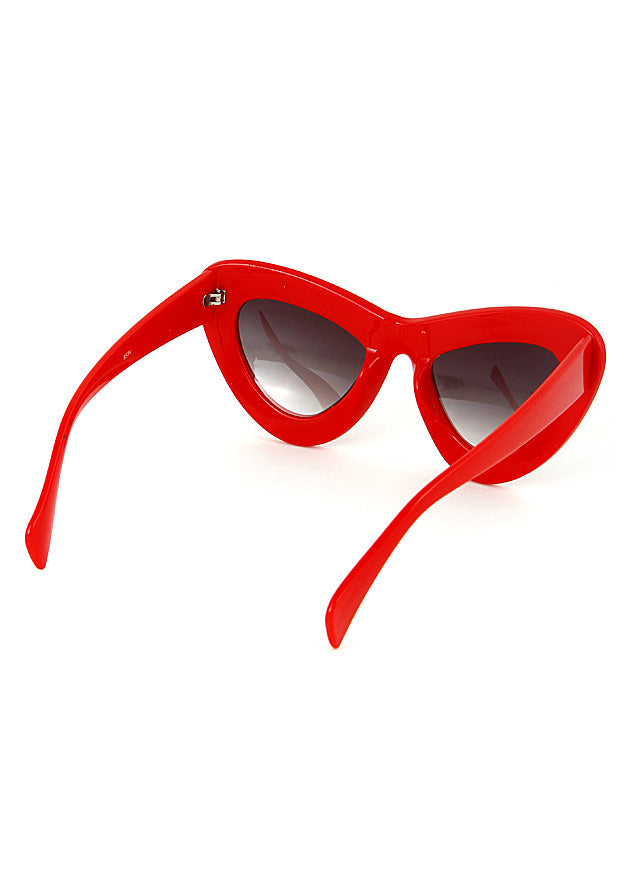 Oversized Butterfly Thick Frame Sunglasses Red