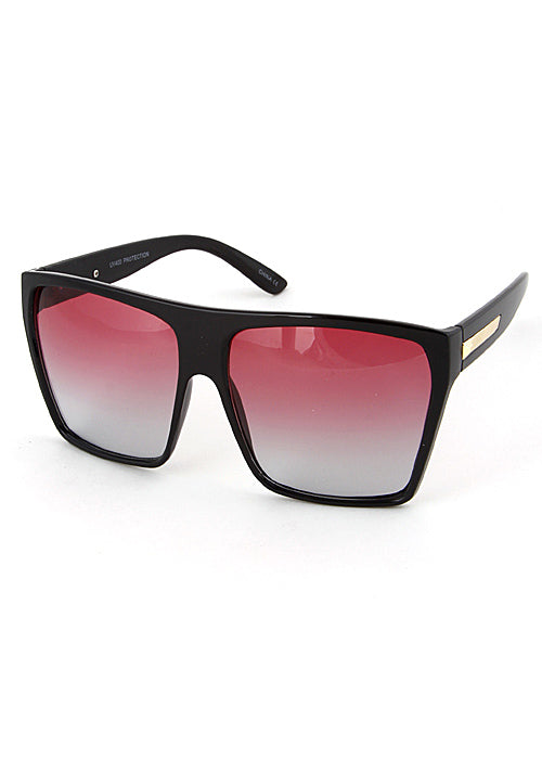 Next Level Oversized Flat Top Sunglasses