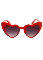 Lola Heart Frame Sunglasses Red