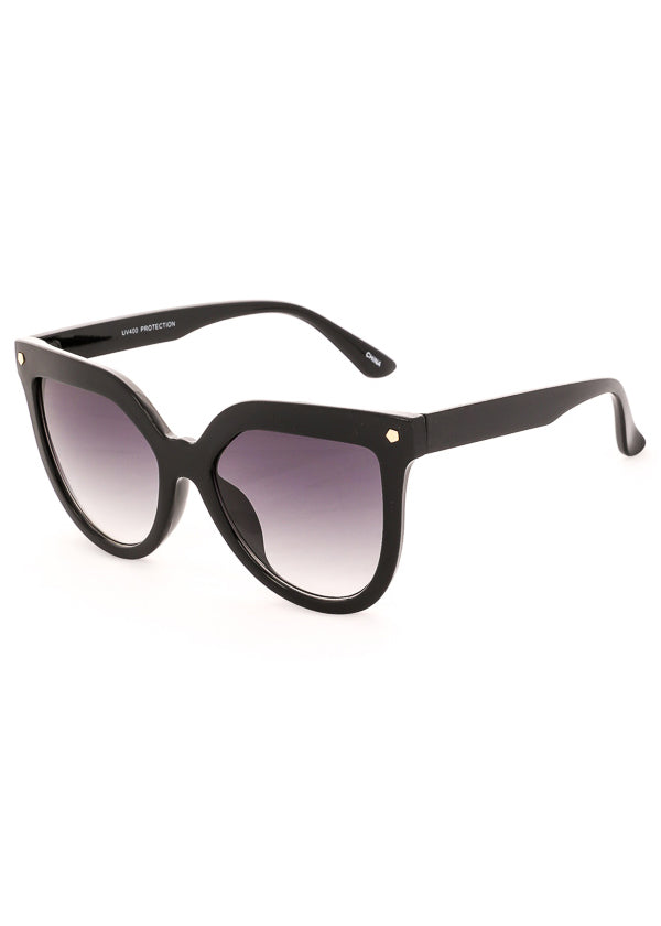 Velvet Rope Oversized Sunglasses - Black Gradient