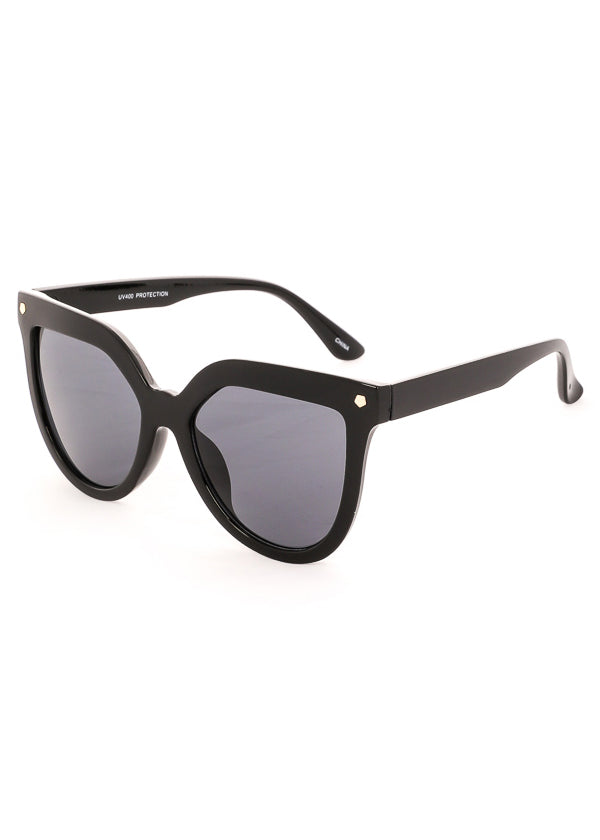 Velvet Rope Black Oversized Sunglasses
