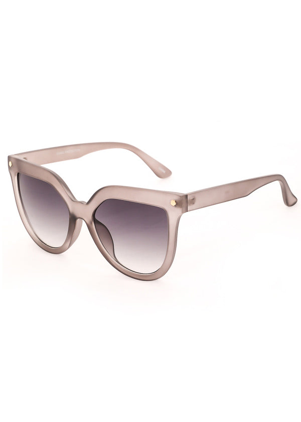 Velvet Rope Oversized Sunglasses - Translucent Black