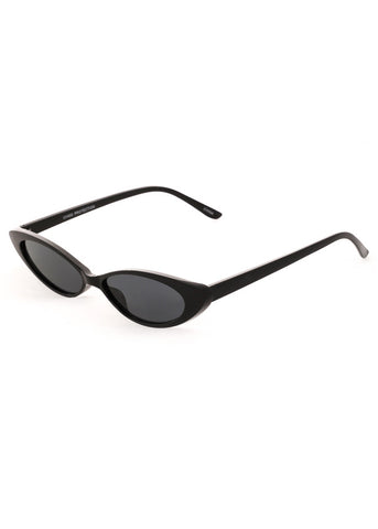 Slim Metal Cateye Sunglasses