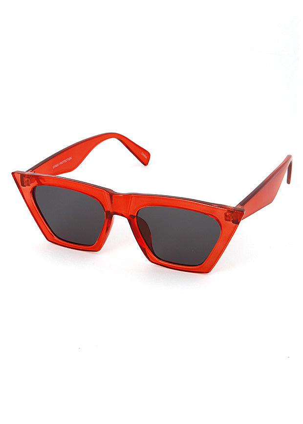 Squared Cat Eye Sunglasses Red