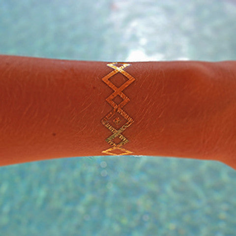 Fashion Tats Gold Tribal Bracelet