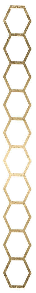 Fashion Tats Gold Hexagon Outline Bracelet