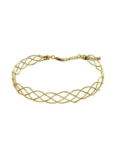 Rachel Gold Braided Choker