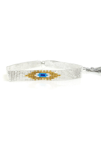 Crystal Hamsa Beaded Bracelet