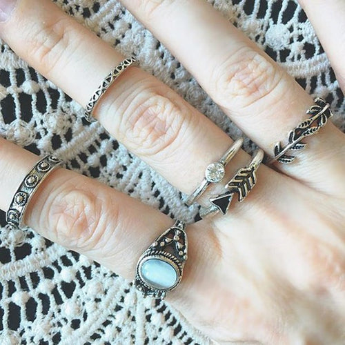 Bohemian Arrow Ring Set