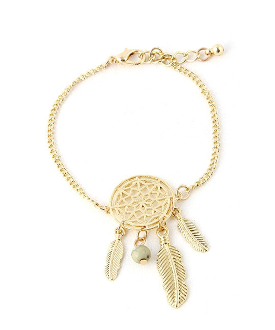 Gold Dreamcatcher Chain Bracelet