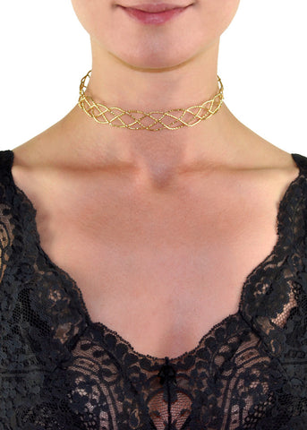 Elizabeth Ivory Lace Choker Necklace
