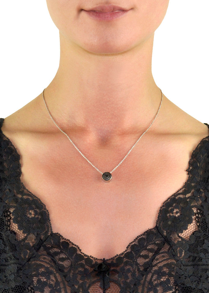 Shay Black CZ Crystal Adjustable Choker Necklace