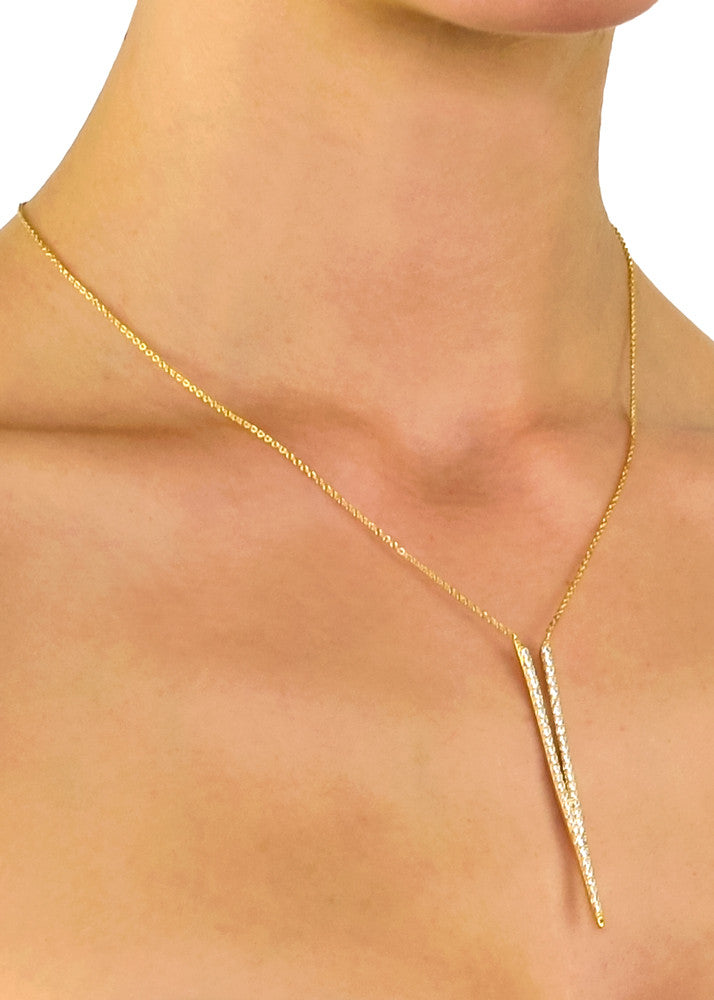 I'm Yours Crystal V Necklace - Gold