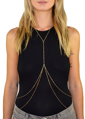 Heartbreaker Layered Lariat Body Chain